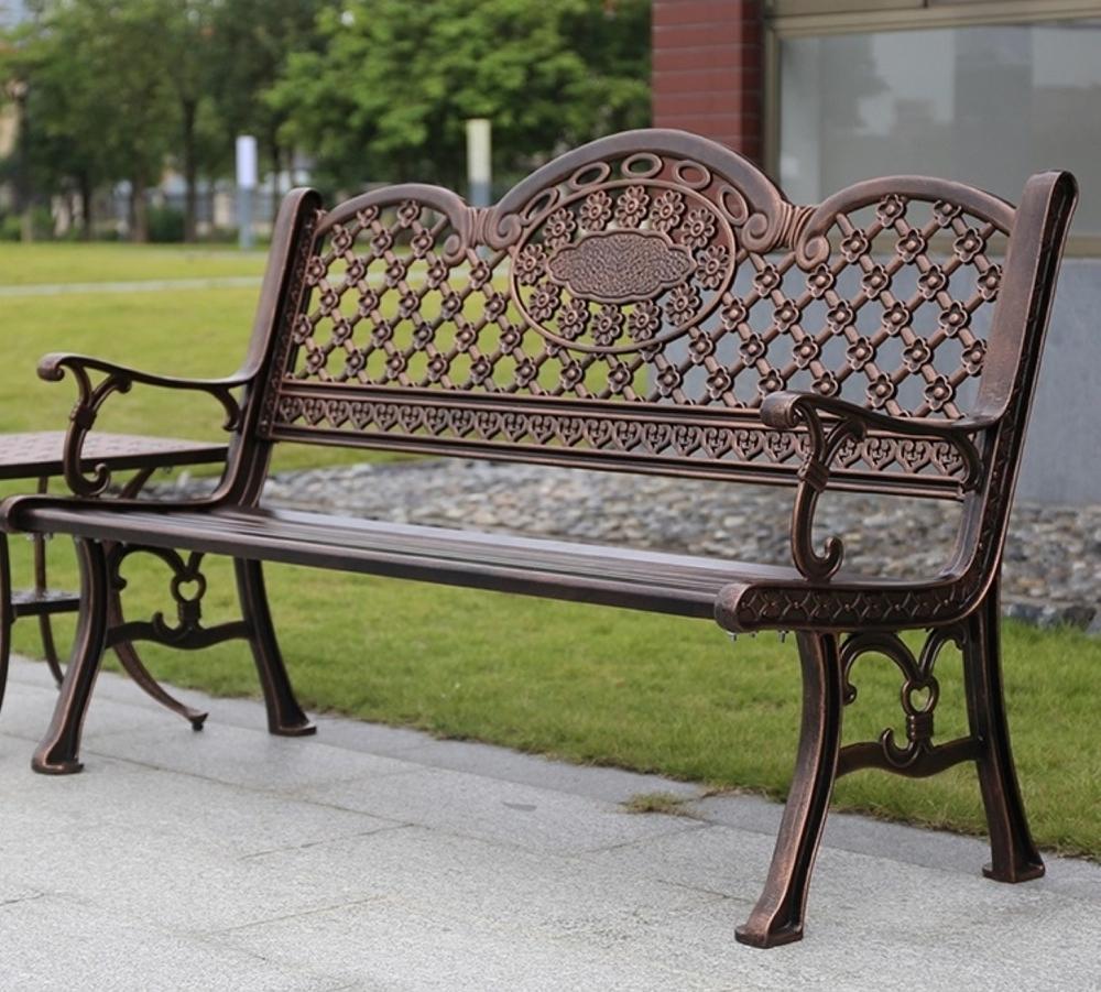 Коллекция скамеек из литого алюминия Поло