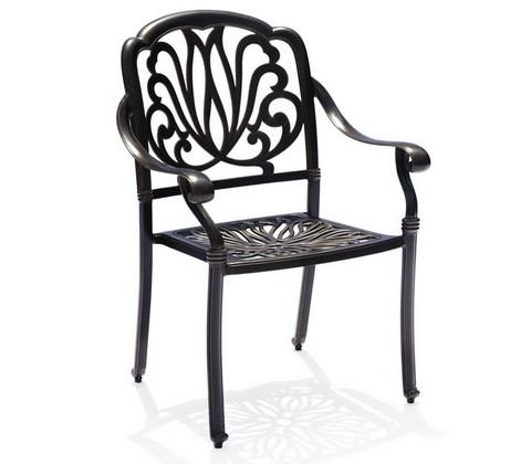 кресло из литого алюминия феникс Fenix Bronze