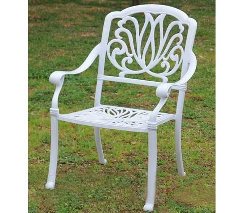 кресло из литого алюминия феникс Fenix White