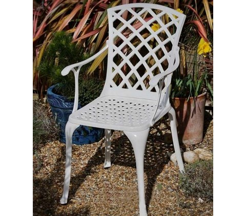 кресло из литого алюминия седона Sedona White