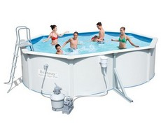 Стальной бассейн Hydrium Oval Pool Set 56586/56286