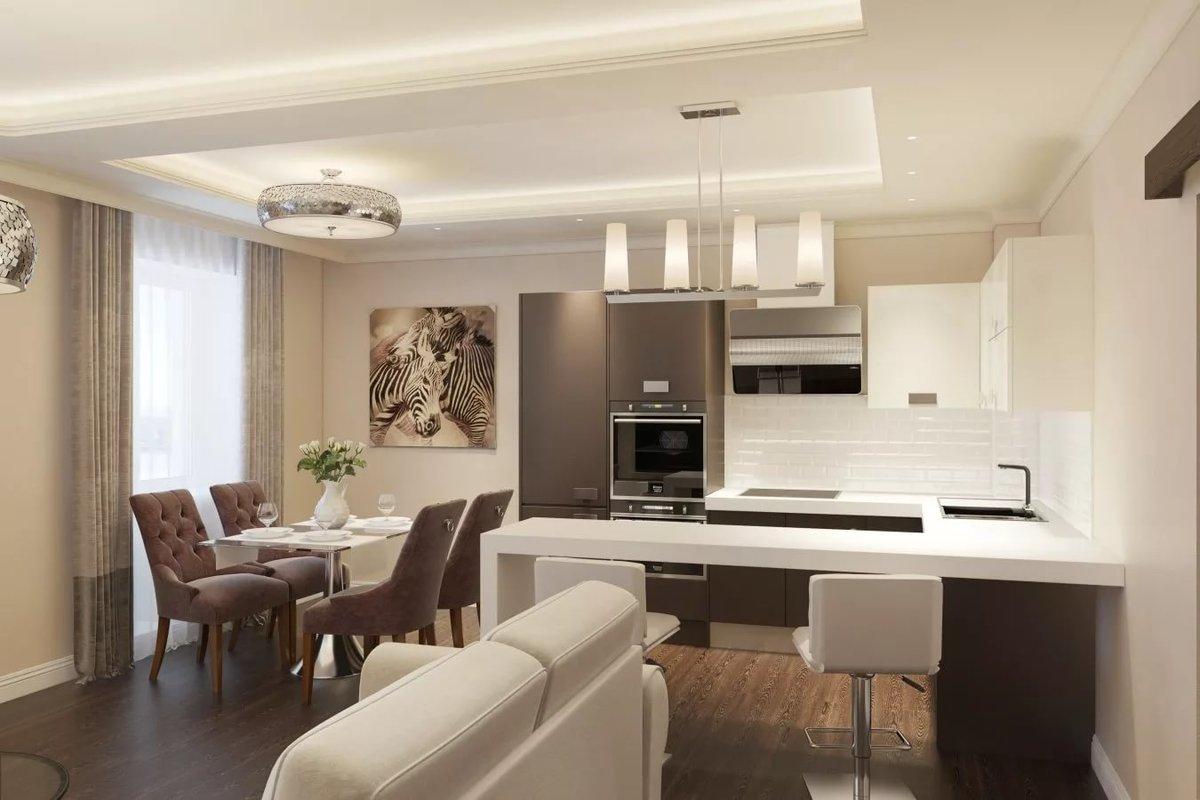 Картинки кухня и гостиная