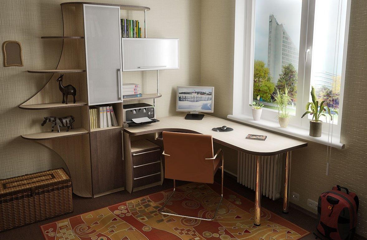 Компьютерный стол у окна фото