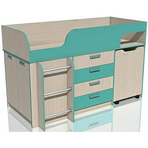 e59da2ee39d Кровать с выкатным столом Рико НМ 011.56 М (аква) купить в Москве ...