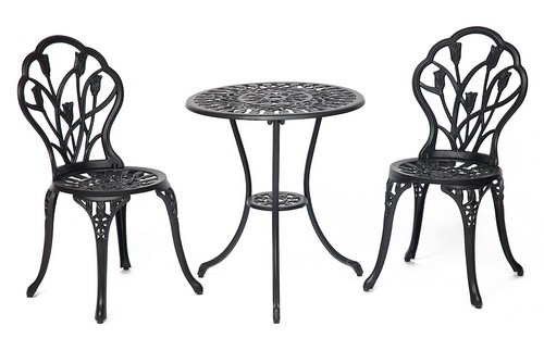 Komplekt Secret De Maison Waltz of Flowers chernyj stol i dva stula big