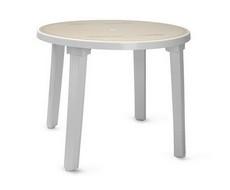 Стол круглый белый с рисунком