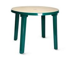 Стол круглый зелёный с рисунком