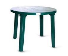 Стол круглый зелёный