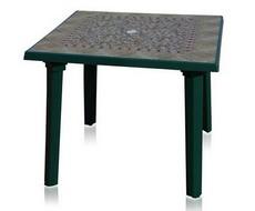 Стол квадратный зелёный с рисунком