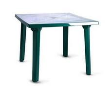 Стол квадратный зелёный