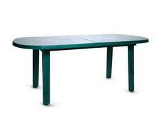 Стол овальный зелёный