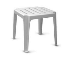 Столик к шезлонгу белый