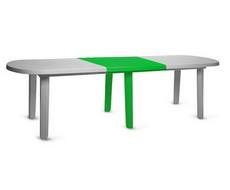 Вставка для овального стола зелёная