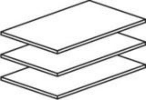 YC1-01.L3L Полки 3шт. br к 2дв.шкафу FU1 - Мебель для спальни / Спальни - Интернет-магазин Shop-fortis.ru.