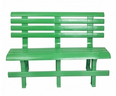 Скамья полимерная (зелёная)