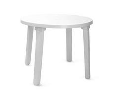 Стол круглый 900х710 мм (белый)