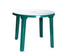 Стол круглый 900х710 мм (зелёный)