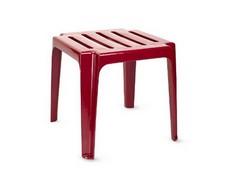 Пластиковый столик к шезлонгу бордовый