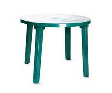 Стол пластиковый круглый (диаметр 90 см) зеленый