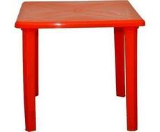 Стол пластиковый квадратный 80 х 80 см (красный)