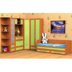 Подростковая мебель, композиция 1. Состав композиции: угловая секция, пенал, комод с навесной полкой, шкаф угловой