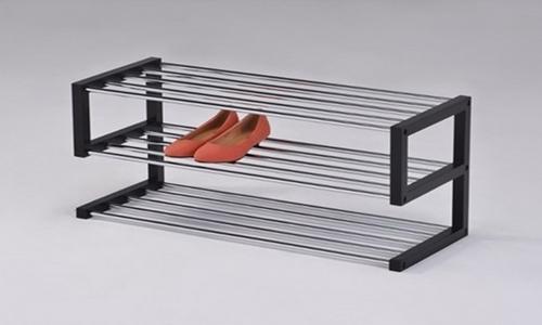 Открытую обувницу металлическую