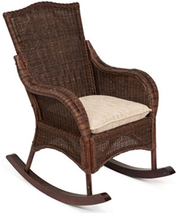 Кресло-качалка BALI из ротанга - Кресла-качалки плетеные - Плетеная мебель из натурального ротанга