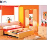 Модульная система мебели для спальни Ким-2 (Kim) в цвете бук татра, клен (вариант 1)