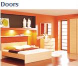 Модульная система мебели для гостиной Дорс (Doors) в цвете дуб милано (вариант 1)
