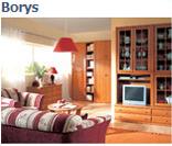 Модульная система мебели для гостиной Борис (Borys) в цвете ольха (вариант 1)