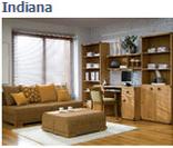 Модульная система мебели для спальни Индиана (INDIANA) в цвете дуб саттер (вариант 1)