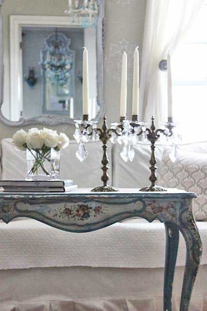 05-a-vintage-light-blue-and-floral-desk-used-as-a-console-for-a-shabby-chic-living-room.jpg