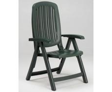 Пластиковая мебель из Италии. Кресло SALINA (в зеленом цвете) складное. Размеры изделия из пластика: 66х61х109 см