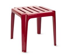 Столик пластиковый к шезлонгу бордовый