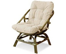 Кресло плетеное с подушкой Calamus rotan из плетеной коллекции Vinotti.