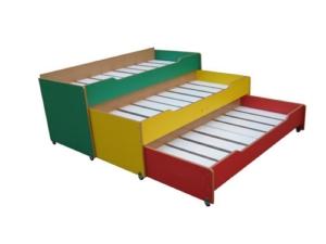 Кровать детская трехъярусная выкатная без тумбы 3.12.